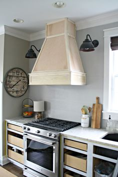 Kitchen Vent Hood Window Shades 40 Range Designs And Ideas A Diy Ish Wood