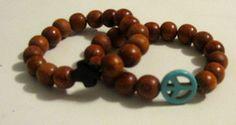 #bracelets #wooden #accessories #peace #cross
