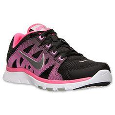 Women's Nike Flex Supreme 2 Training Shoes Black/Metallic Silver/Hyper Pink
