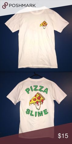 Pizza Slime T-Shirt (Size: M) This is a like new Pizza Slime T-Shirt. It is 100% cotton. Pizza Slime Shirts Tees - Short Sleeve