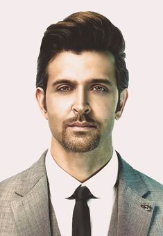 The Bollywood actor Hrithik Roshan is the Greek God of the hindi cinema. Here are 12 Photos of him to prove that. Medium Curly, Medium Long Hair, Medium Hair Styles, Old Man Portrait, Portrait Images, Hrithik Roshan Hairstyle, Patchy Beard, Faded Hair, Joker Wallpapers
