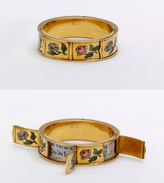 French ring with hidden message of JE T'AIME (I Love You)  circa 1830-1860