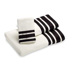if they have this in black and red and white, would be awesome    Nicole Miller Linear Bath Towels, 100% Cotton