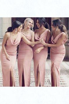 Pink Bridesmaid Dresses, Mermaid Bridesmaid Dresses, Custom Made Bridesmaid Dresses Bridesmaid Dresses 2018 Dusty Pink Bridesmaid Dresses, Bridesmaid Dresses Online, Glamorous Bridesmaids Dresses, Sexy Dresses, Short Dresses, Dresses Dresses, Formal Dresses, Maid Of Honour Dresses, Color Rosa