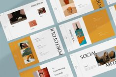 Orches Presentation on Behance Business Presentation, Presentation Templates, Keynote Design, Professional Powerpoint Templates, Brochure Layout, Minimalist Fashion, Minimalist Style, Keynote Template, Branding