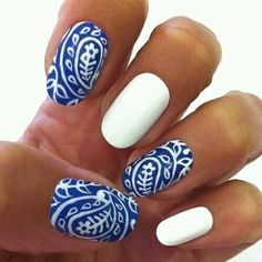 Nails | Follow http://www.pinterest.com/thevioletvixen/bold-nails/ for more bold nail art!