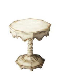 Artists' Originals Carved Twist Pedestal Octagonal Table