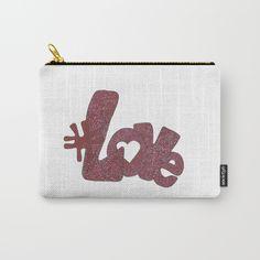 Carry-All Pouch by Juliana Kroscen Pouches, Carry On, Zip Around Wallet, Friendship, Romance, Purse, Zipper, Makeup, Bags