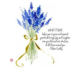 """Happy Friday Everyone! Let us always remember to be grateful!"""" - Original Brush Painting by Nan Rae Sketch Painting, Watercolor Sketch, Watercolour Painting, Watercolor Flowers, Lavender Quotes, Lavenders Blue Dilly Dilly, Flower Symbol, Ink In Water, Lavender Blue"""