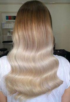 Subtle Platinum Blonde Balayage
