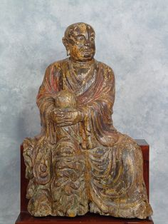 One of a pair rare sculptures, probably Song.