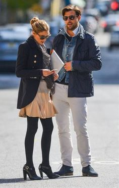 Olivia Palermo Johannes Huebl Photos - Socialite Olivia Palermo and boyfriend Johannes Huebl seen hailing a cab in New York City, New York on April - Olivia Palermo and Johannes Huebl Take a Stroll Estilo Olivia Palermo, Olivia Palermo Outfit, Olivia Palermo Lookbook, Olivia Palermo Style, Gents Fashion, Star Fashion, Women's Fashion, Johannes Huebl, How To Wear White Jeans