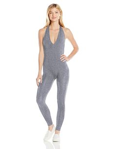 American Apparel Women's Cotton Spandex Halter Catsuit ** Continue to the product at the image link.