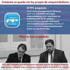 CiU y ERC impiden que se apruebe en el Parlament la nueva Ley de Emprendedores propuesta por el PP de Catalunya