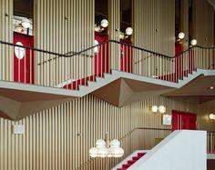 Staircase inside Teatro Regio Torino (Regio Theater, Turin), designed by one of my all-time design heroes, Carlo Mollino in 1965-67.