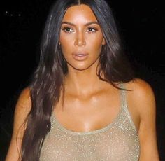 Alloy: Kim Kardashian Steps Out In Sheer Top Tank With No...