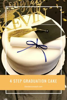 Learn how to make your own graduation cake in 4 easy steps!