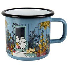 Muurla 7 DL The Moomin House Enamel Mug for sale online Moomin House, Les Moomins, Kitchenware, Tableware, Tove Jansson, Cool Mugs, Shabby, Decoration, Tea Pots
