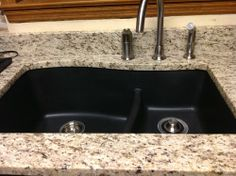 Customer Image Gallery For Swanstone By Drop In Large/Small Bowl Kitchen  Sink, Nero