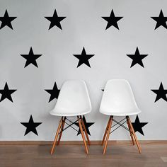 Large Stars Wall Decal Pack Vinyl Wall Sticker Decal by DecalLab