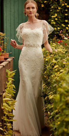 One of my favorite's from BHLDN's new Spring Collection...Love those Flutter Sleeves