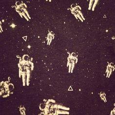 Astronauts/spacemen into the universe.