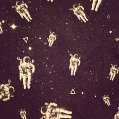Astronauts/spacemen into the universe.