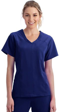 057b109b547 Jockey Women s Scrubs Modern Mesh V-Neck Top