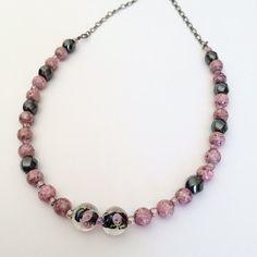 Beaded short choker necklace Short beaded by BarbsBeadedJewelry