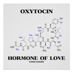 Oxytocin Hormone Of Love (Chemistry) Poster