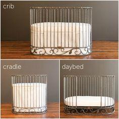 J'adore crib-cradle pewter - Modern