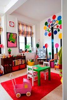 Lovely idea for a playroom