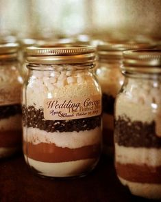 DIY Hot cocoa mix for winter wedding favors - Click image to find more Weddings Pinterest pins