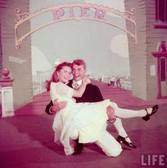 Debbie Reynolds and Carleton Carpenter - Two weeks with love (1952). LIFE magazine.