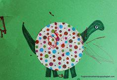 Cupcake Liner Dinosaur Craft Dinosaurs For Toddlers, Dinosaur Crafts, Cupcake Liners, Dogs And Puppies, Preschool, Snails, Frogs, Blossoms, Literacy