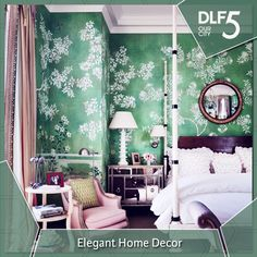 #HouseToHome Add a unique theme to your room with Floral print wallpapers!
