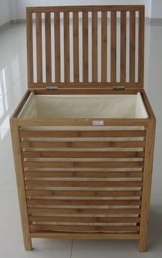 Wooden Diy, Wooden Laundry Basket, Woodworking Furniture, Wood Design, Laundy Room, Diy Furniture, Diy Bathroom Furniture, Wooden Laundry Hamper, Wood Diy