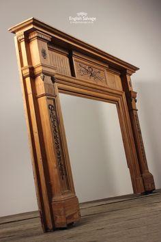 Wooden Main Door Design, Modern Wooden Doors, Door Gate Design, Door Design Interior, Front Door Design, Entrance Design, Wooden Fireplace, Wood Mantels, Wood Cornice