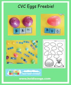 CVC Eggs! | Heidi Songs