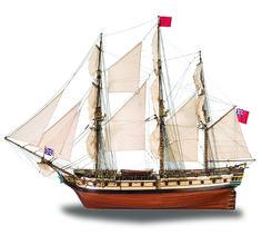 1:48 HMS Surprise scale model ship