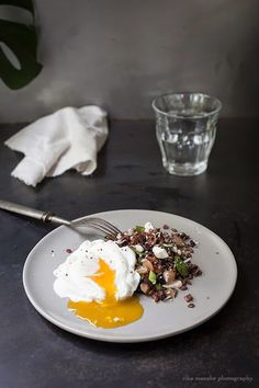 Bella Bonito: Bhutan Red Rice Salad with Poached Egg. Gluten free, vegetarian.