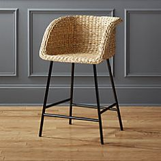 "View larger image of Silas Seagrass Counter Stool 24""."