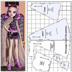 Image results for Printable Monster High Doll Clothes Pattern search - many sewing patterns