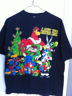 Christmas Looney Tunes TShirt by BCallyVintage on Etsy, $35.00