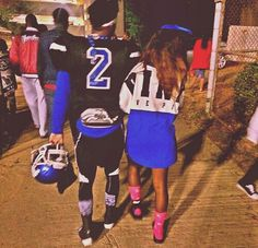 This gonna be me and my bae. Ima be head cheerleader, and he gonna be a fb player:):):)