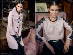 Edas, cappotto e blusa color Cipria, Autunno Inverno 2014. Punto Blu Boutique Tarquinia (VT)