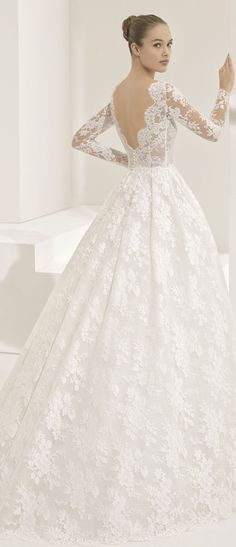 Rosa Clar� Couture 2018 Bridal Collection: A Line Up Of Stunning Statement Backs #weddingdress #rosaclara #bridal #bridalgown #laceweddingdress