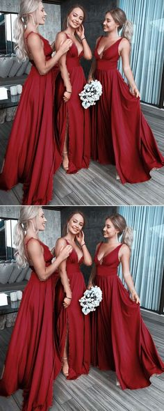 ccd8cddc8e70 White Mismatched Long Sexy Elegant Most Popular Cheap Modest Bridesmaid  Dresses online ,WG298 Red Chiffon