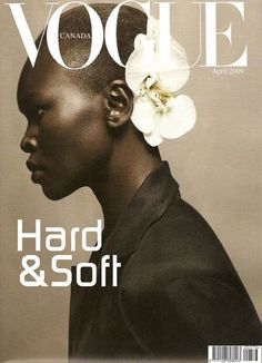 Alek Wek with Orchid by Sølve Sundsbø for id Magazine. Such a simple composition, but so powerful. (Of course, collaborating with a model who is one of the most beautiful women to walk the earth helps. Foto Portrait, Portrait Studio, White Photography, Portrait Photography, Fashion Photography, Profile Photography, Human Photography, Beauty Photography, Editorial Photography