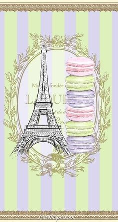And Paris = French Macarons! Macarons, Laduree Macaroons, French Macaroons, Paris Illustration, Illustrations, Tour Eiffel, Collages D'images, Paris Party, Paris Theme